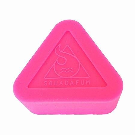 Pote de Silicone Triângulo Rosa Squadafum