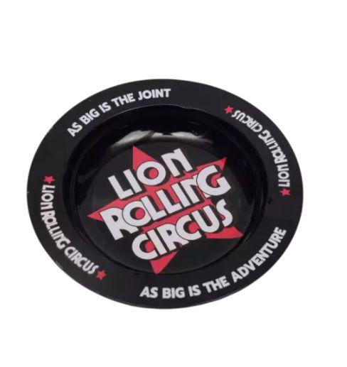 Cinzeiro de Metal Preto Lion Rolling Circus