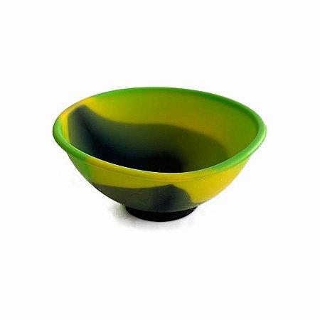 Cuia de Silicone Verde, Amarelo e Preto