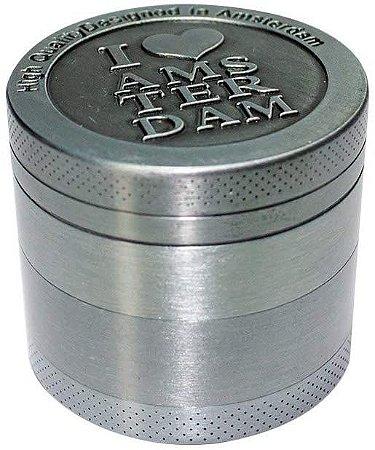 Triturador de Metal Pequeno I <3 Amsterdam Prata 4 fases