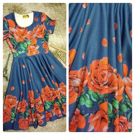 vestido Paola Azul