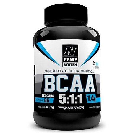 Bcaa 5.1.1 120 Caps - Nutrata - Estimula À Restauração Dos Músculos