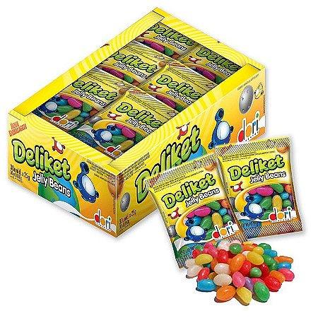 Bala de Goma Jelly Beans Deliket 20g C/30
