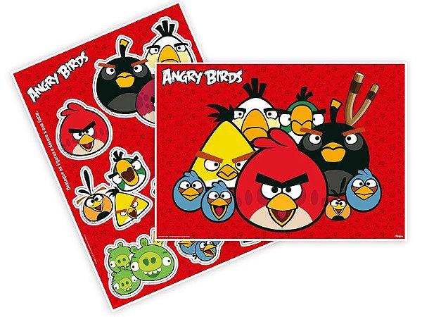 Kit decorativo painel Angry Birds