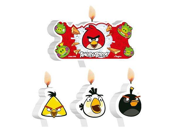 Vela Plana Angry Birds Kit C/4