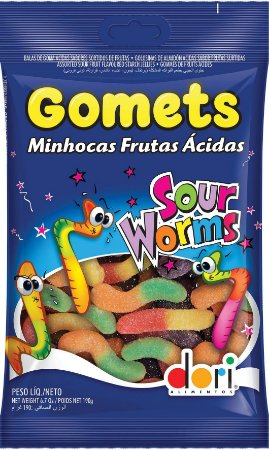 Bala Goma Gomets Minhoca Ácida | 600g