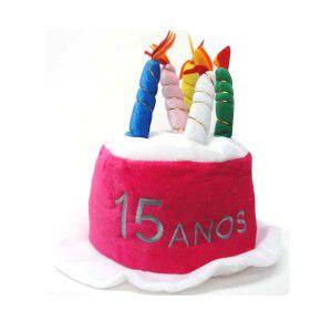 e3d07ee056b43 Chapéu Bolo Festa de 15 Anos - Artigos e decorações para festas