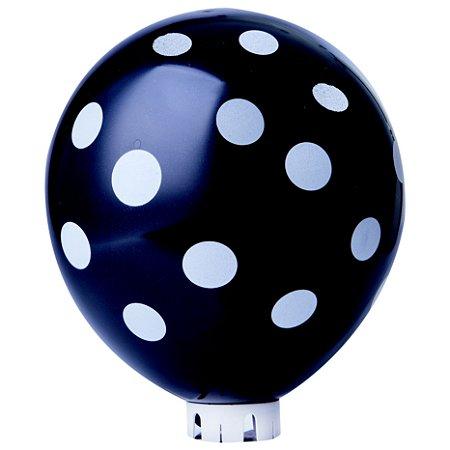 Balão / Bexiga Happy Day N11 Decorado Confete Preto C/25