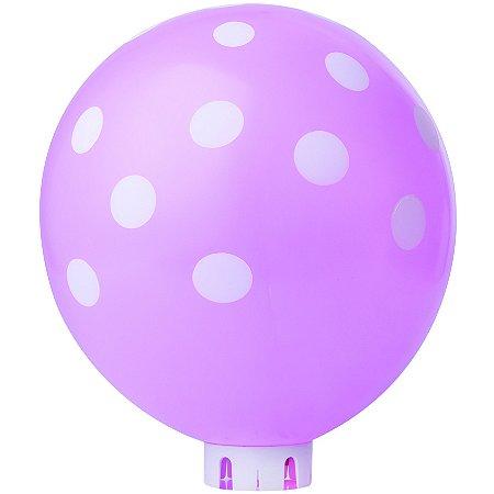 Balão / Bexiga Happy Day N11 Confete Rosa e Branco C/25