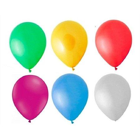 Balão/Bexiga Liso Latéx Happy Day N8 C/50