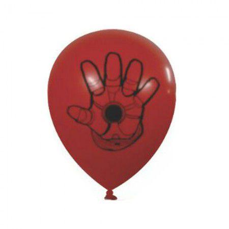 Balão / bexiga Happy Day Iron Man vermelho c25