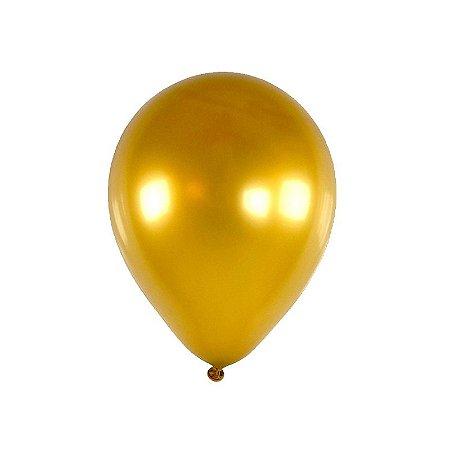 Balão / Bexiga Happy Day Metalizado Alumínio N9'' C/25