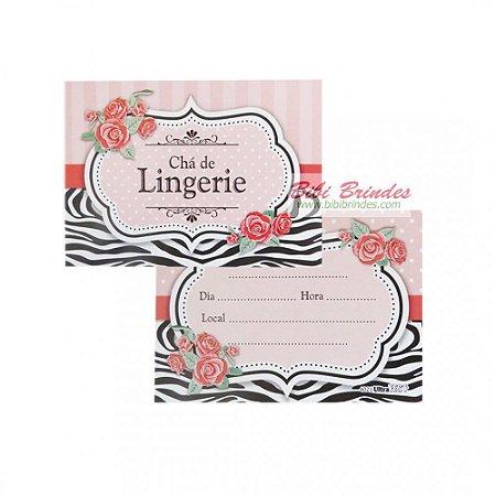 Convite Chá de Lingerie c/8