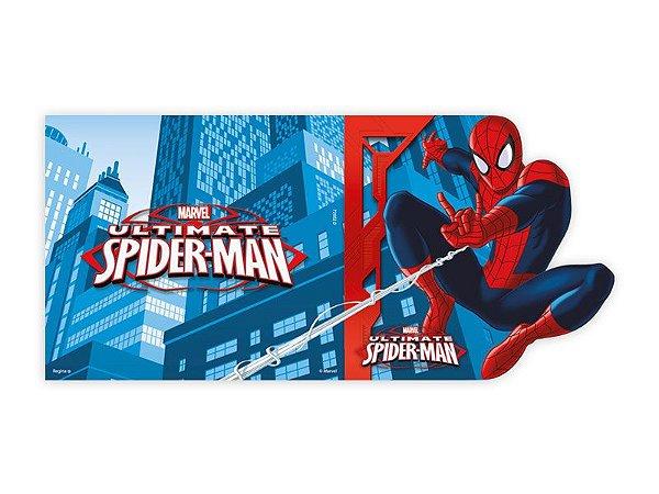 Convite de Festa de Aniversário Spider Man C/8