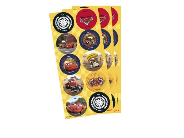 Adesivo Decorativo Redondo Carros Corrida