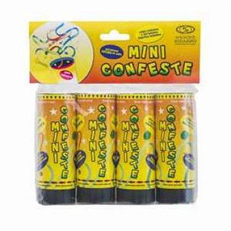 Mini Lança Confetes Sortidas C/4