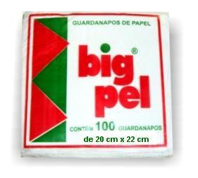 Guardanapo 20X20 big pel C/100