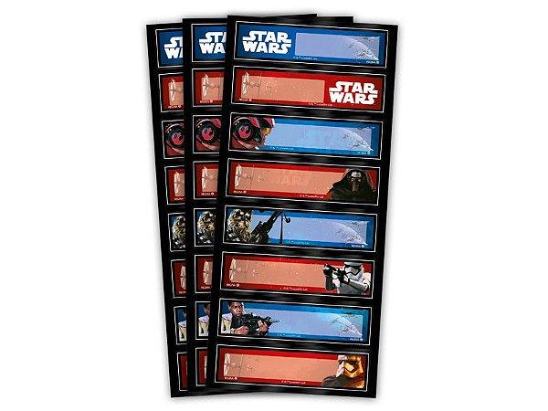 Adesivo Decorativo Retangular Star Wars