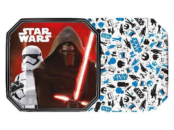 Prato Quadrado 18cm Star Wars C/8