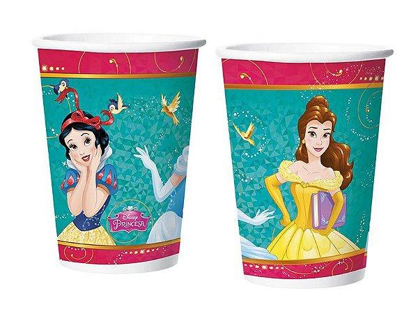 Copo Descartável Princesas Amigas Papel 180ML