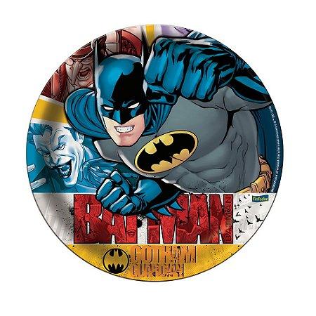 Prato Descartável Redondo Batman C/8