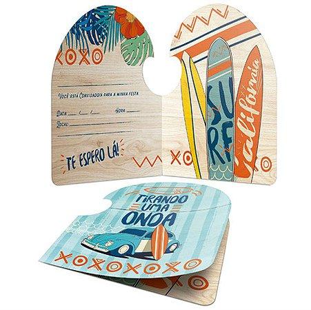 Convite De Festa De Aniversário Surf C/8