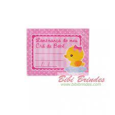 Etiqueta Chá De Bebê Patinho Rosa