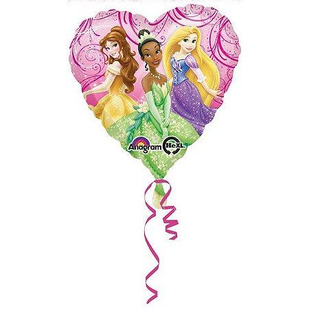 Balão Standard Coração Princesas