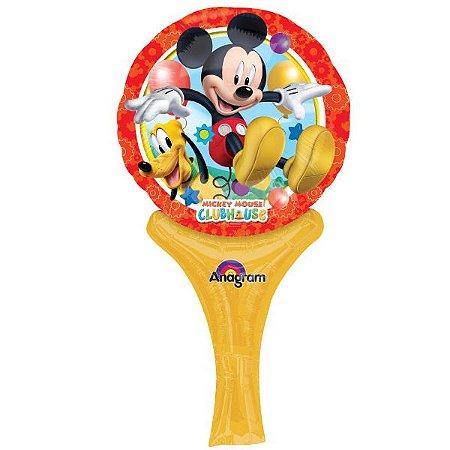 Balão Metalizado Sopre E Brinque Mickey Mouse