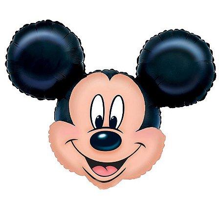 Balão Metalizado Super Shape Cabeça Mickey Mouse