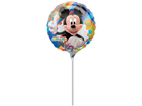 "Balão 9"" Metal Mickey Arco Iris"