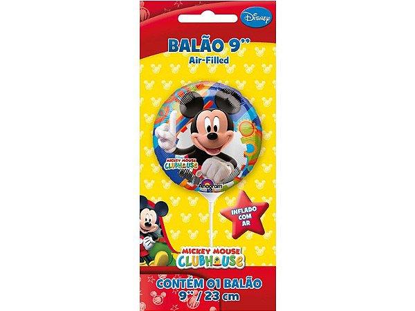 "Balão 9"" Metal Mickey Cartela"