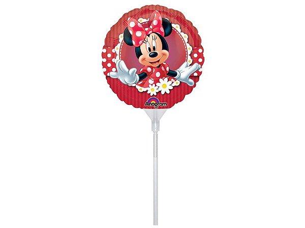 "Balão 9"" Metal Minnie"