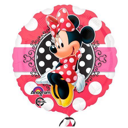 Balão Metalizado Standard Minnie Vermelha