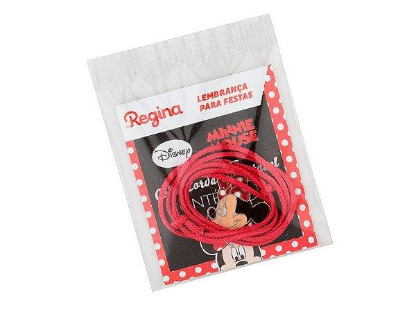 Colar Cordão Ajustável Minnie Vermelha