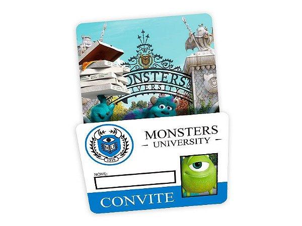 Convite para Festas Universidade Monstros
