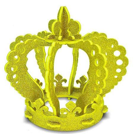 Enfeite Coroa 3D Provençal Dourada
