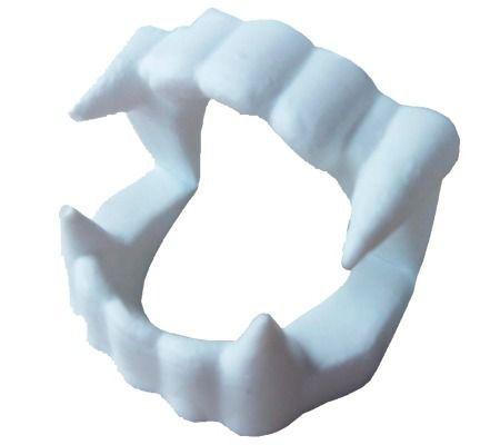 Dentadura Branca Halloween Vampiro C/20