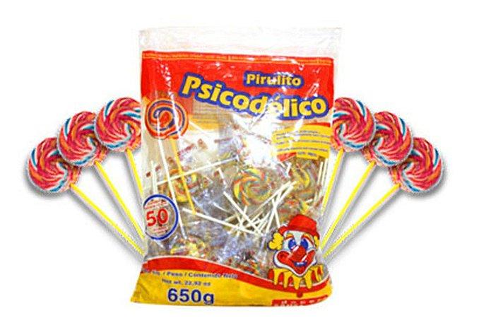Pirulito Psicodélico 650g C/50