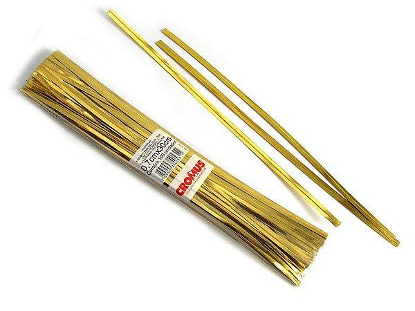Fecho Prático Ouro - 0,7x30cm C/100