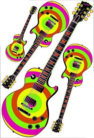 Kit Painel Com 4 Guitarras Luxo
