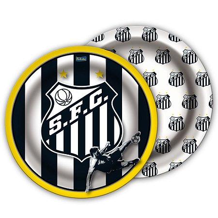 Prato Descartável Redondo Santos F.C. C/8