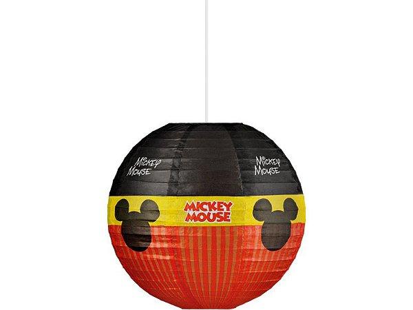 Lanterna De Papel Redonda Mickey 30cm