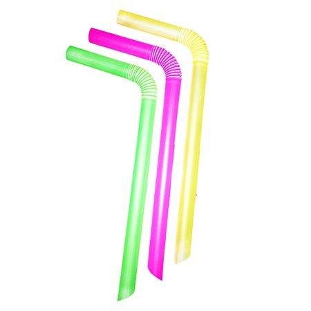 Canudo MilkShake Neon C/10