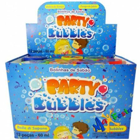 Bolha De Sabão Party Bubbles C/12