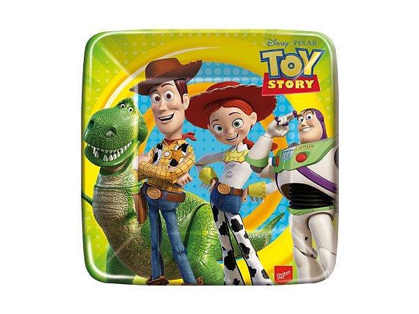 Prato Quadrado 18cm Toy Story C/8