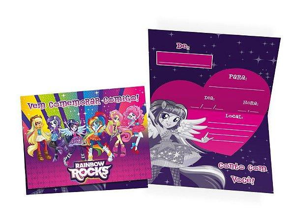 Convite My Little Pony Equestria Girls C/08