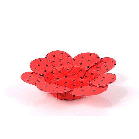 Mini Forminha P/Doces Vermelho C/Bolinha Branca 50 UN