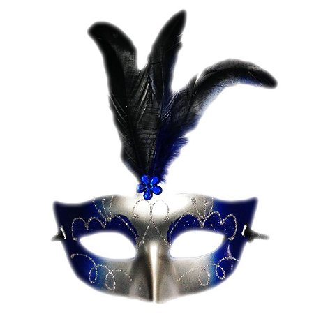 Máscara De Carnaval Lisa C/ Glitter