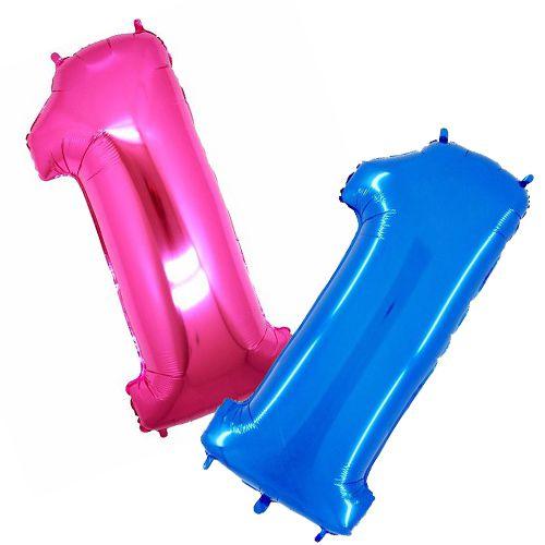 Balão Metalizado Número 1 - 1 Metro.
